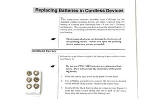 Spare batteries for Cordless Stylus Pen